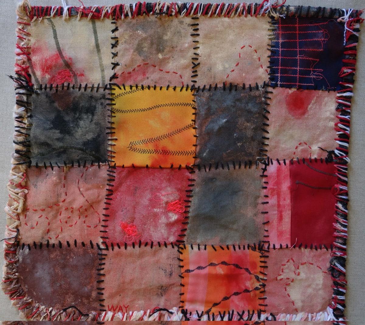 Stephen Eastaugh MUDMAPS 7 (Way) Broome acrylic, thread, linen 45 x 45 cm