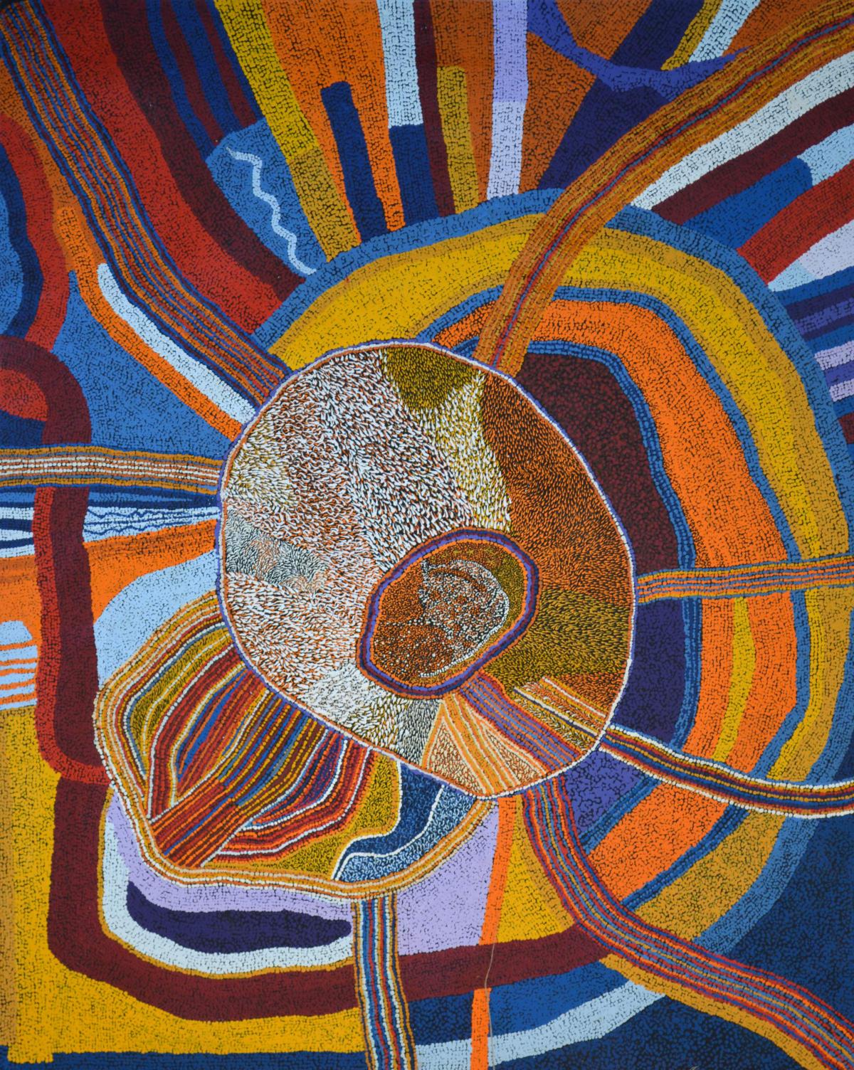 Bernard Tjalkuri Kalaya Tjuta acrylic on canvas 120 x 150 cm