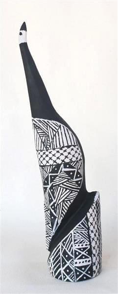 Pius Tipungwuti Tokwampini, the bird. ironwood with natural ochres 41 cm