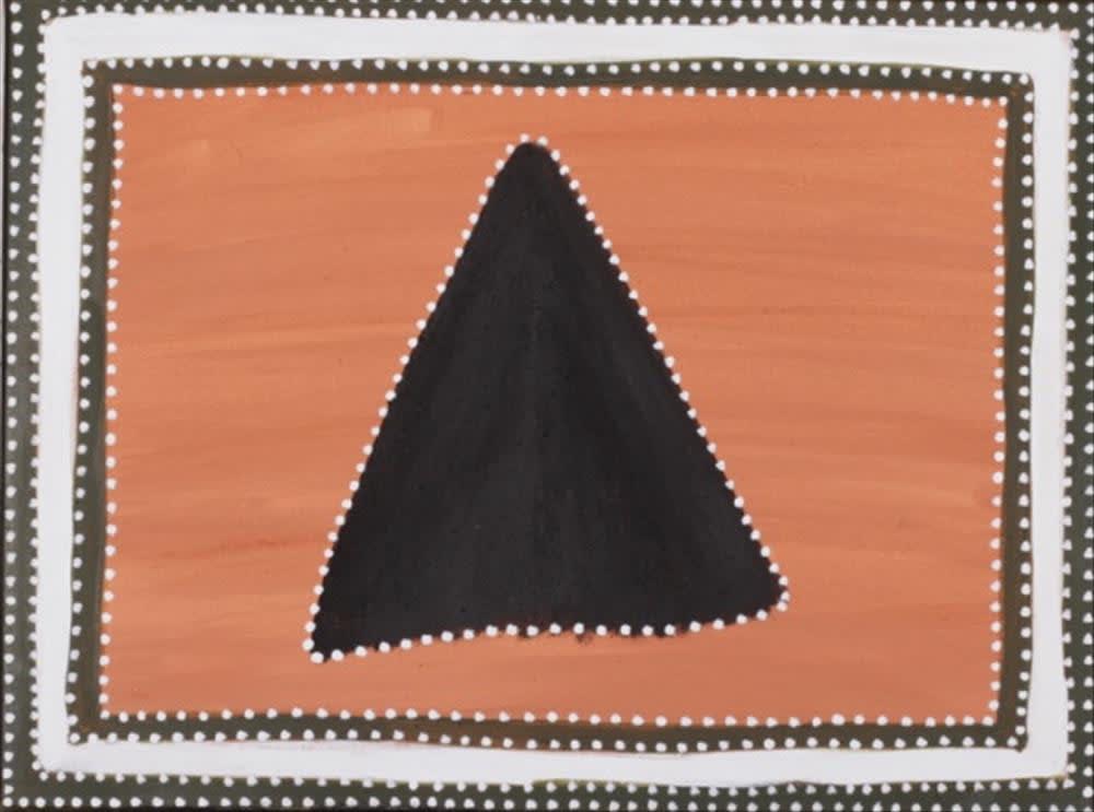 Kathy Ramsay Jarlwiny Ngarranggarni (Kangaroo Dreaming) natural ochre and pigments on canvas 60 x 45 cm