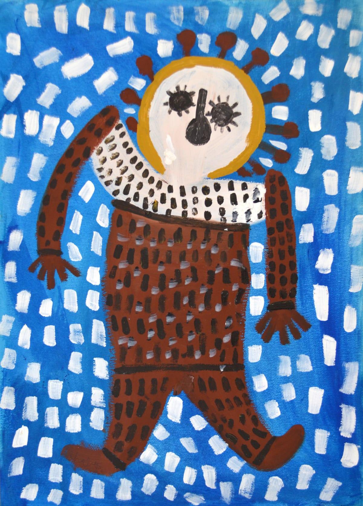 Mabel King Wandjina acrylic on paper 56 x 66 cm