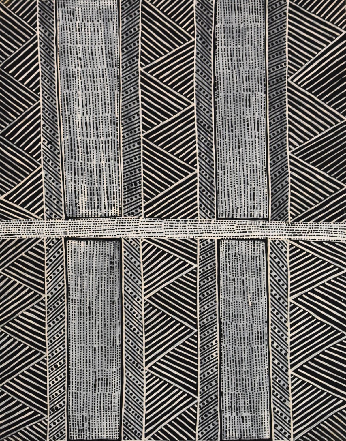 Geraldine Francine Pilakui Jilamara ironwood with natural ochres 90 x 70 cm