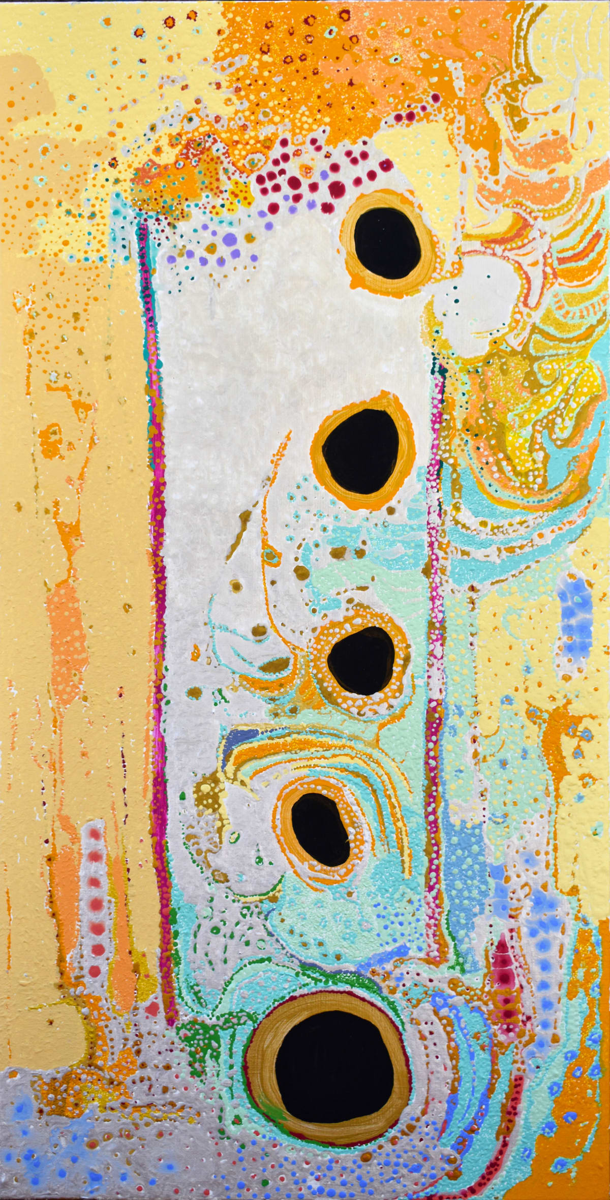 Daniel Walbidi Winpa and Sons Acrylic on Linen 45 x 90 cm