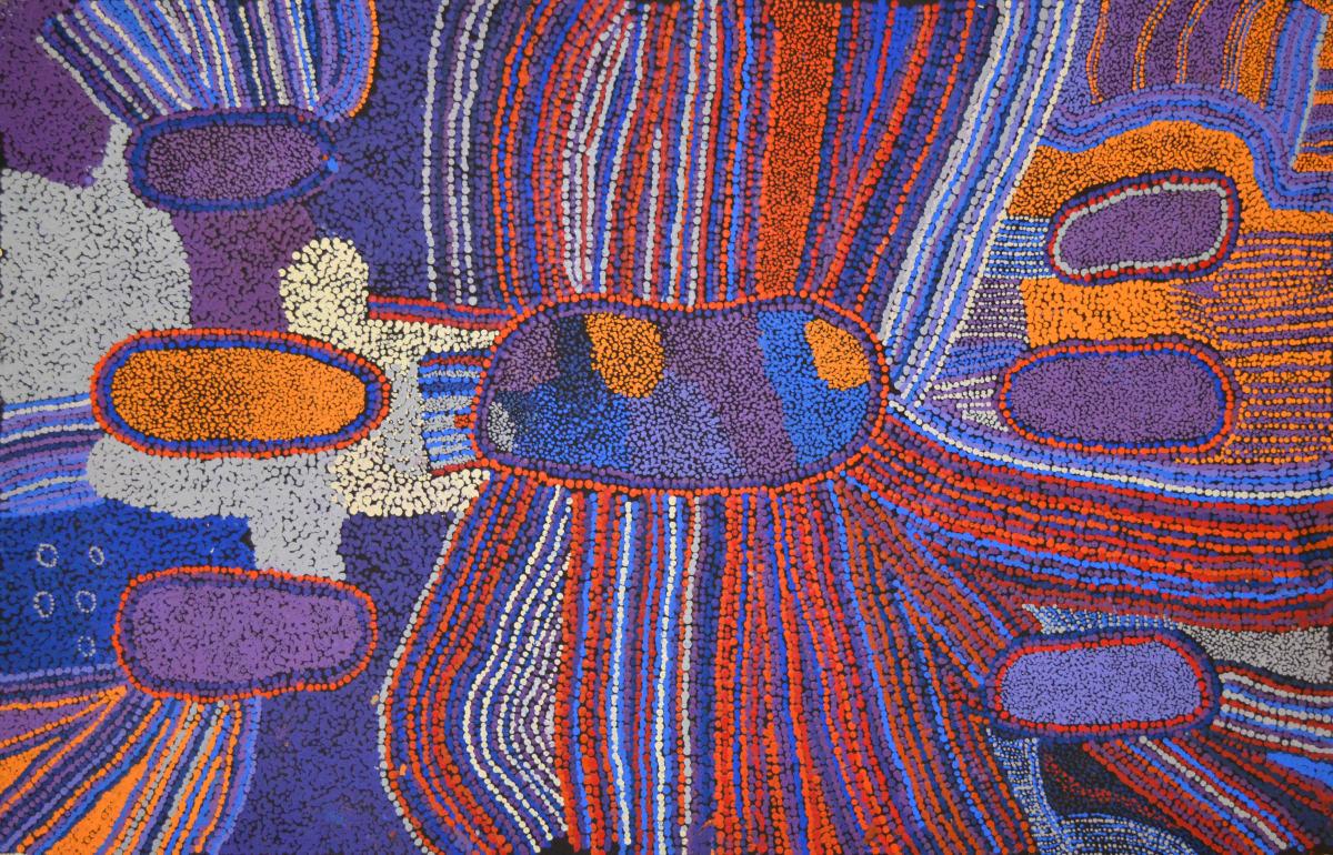 Bernard Tjalkuri Tjitji Tjuta acrylic on canvas 100 x 66 cm