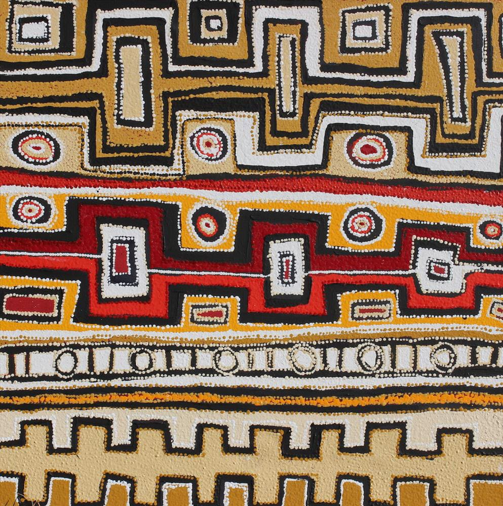 Huey Brady Ngayuku ngura- my country acrylic on linen 101 x 101 cm