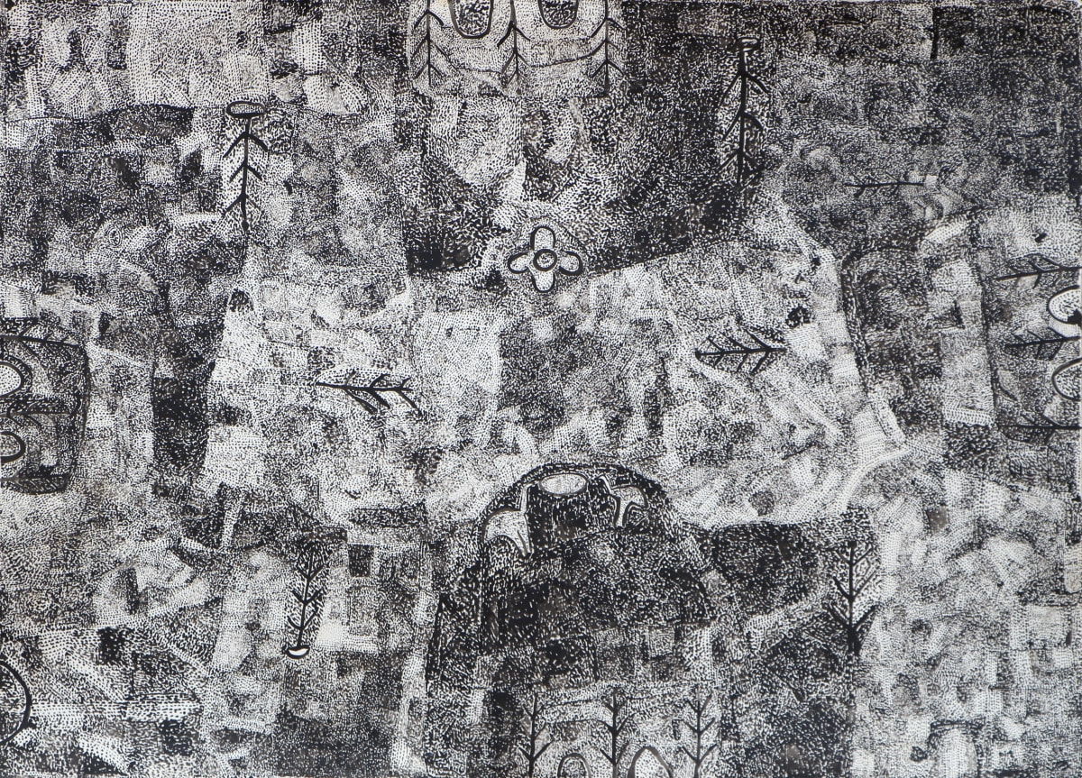 Alec Baker Ngura (country) ink on hahnemuhle paper 78 x 107 cm