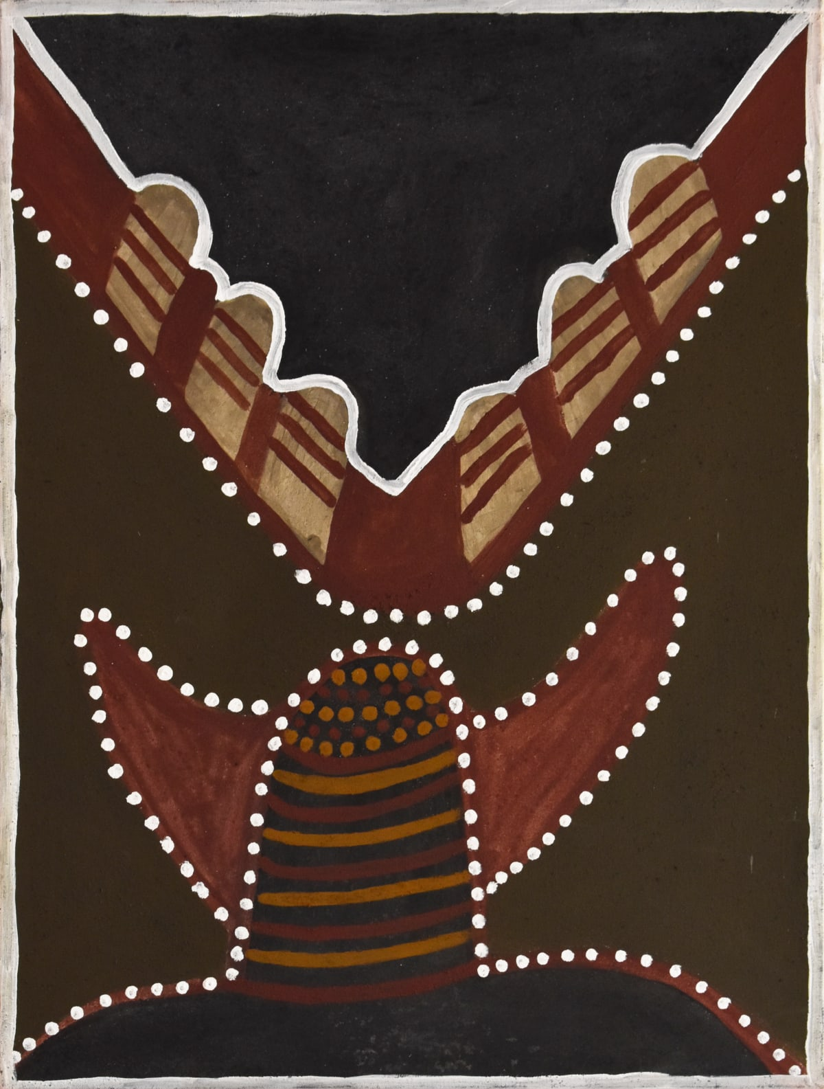 Hector Jandany Ngarrgoorroon Country, 2002 Natural ochre & pigment on canvas 80 x 60 cm