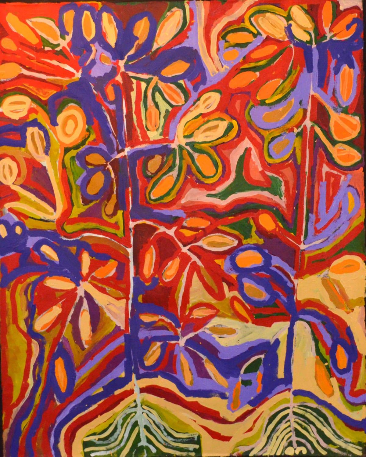Barney Wangin Ngayuku ngura - My Country acrylic on linen 152.5 x 122 cm
