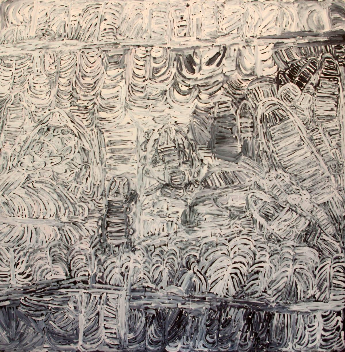 Sonia Kurarra Martuwarra acrylic on canvas 198 x 198 cm