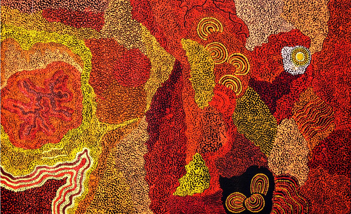 Marita Baker Kalaya Tjukurpa acrylic on canvas 121 x 75 cm