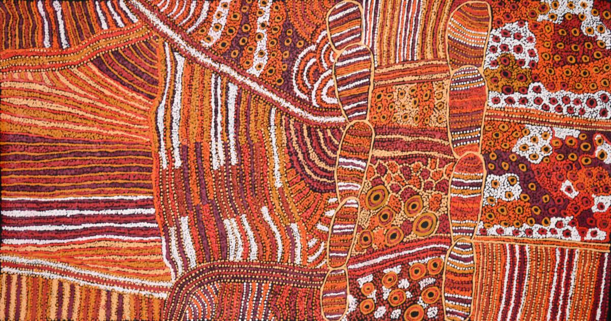 Judy Martin Ngayuku Ngura (my country) acrylic on linen 150 x 75 cm