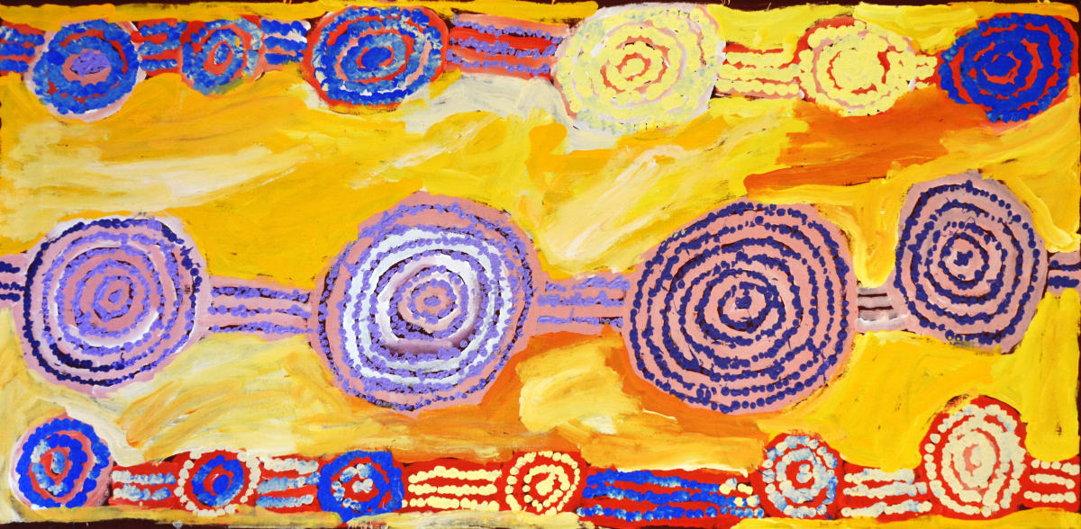 George Ward Tjungurrayi Tingarri acrylic on canvas 75 x 152 cm