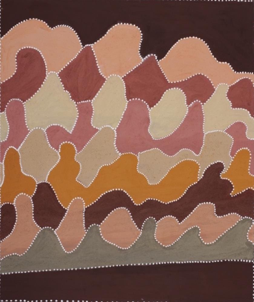 Betty Carrington Ngarrgooroon Country natural ochre and pigments on canvas 140 x 100 cm