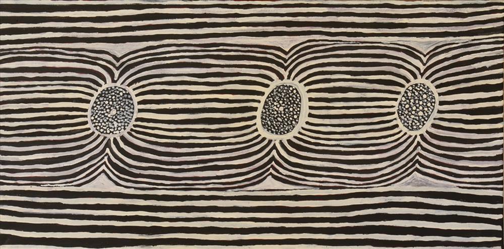 Nyinta Donald Peipei Untitled acrylic on linen 45 x 90 cm