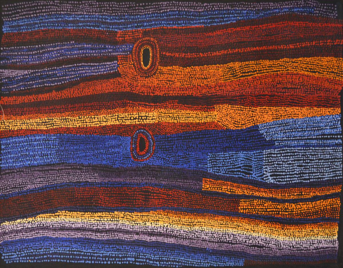 Bernard Tjalkuri Tjitji Tjuta acrylic on linen 120 x 90 cm