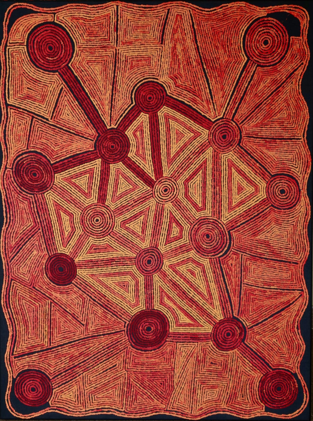 Alison Anderson Geometry acrylic on linen 122 x 92 cm