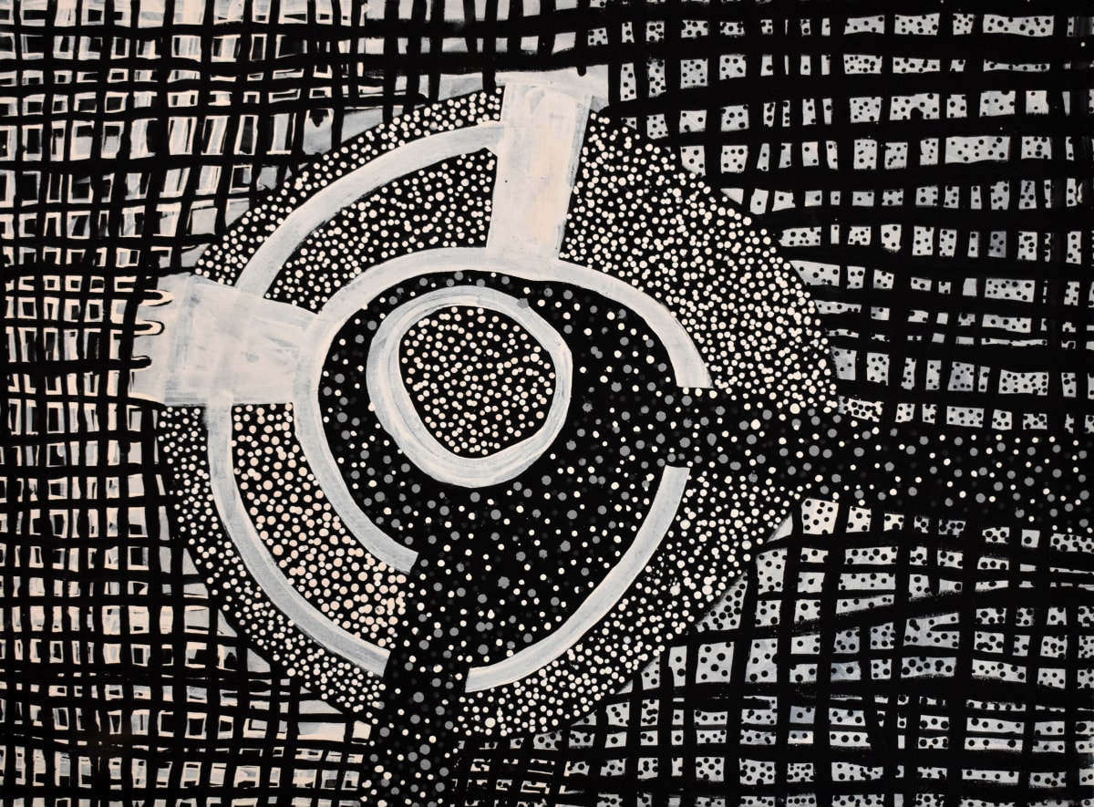 Timothy Cook Kulama natural ochres on linen 120 x 90 cm
