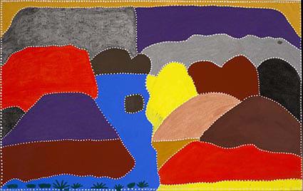 Evelyn Malgil Winnupa Spring Natural ochre and acrylic on linen 160 x 100 cm