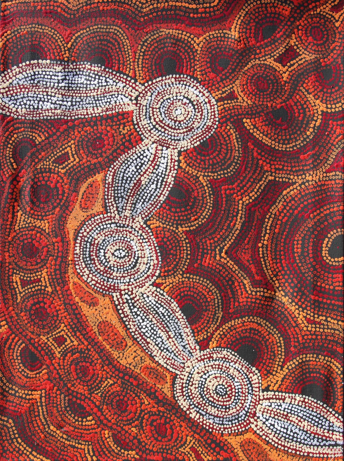 Rosalind Tjanyari Ngura Kutti (Spirit Country), 2019 Acrylic on Linen 61 x 91cm