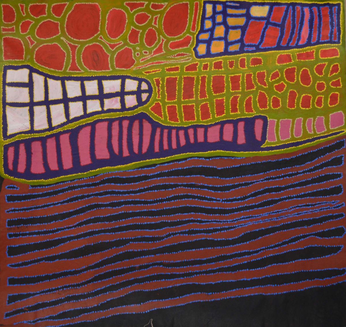 Anmanari Brown Kuru Ala acrylic on linen 142 x 136 cm