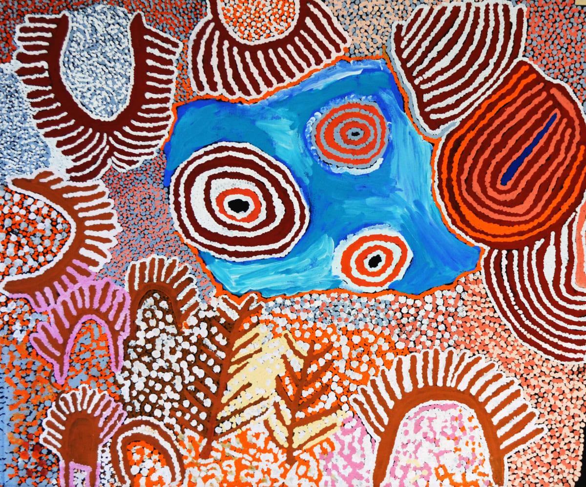 Nancy Carnegie Wirrwul and Kurturla acrylic on canvas 101 x 121 cm