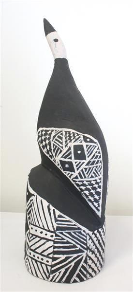 Pius Tipungwuti Tokwampini, the bird. ironwood with natural ochres 35 cm