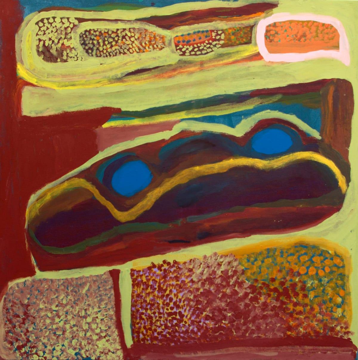 Nada ( Tjigilia) Rawlins Yimirri acrylic on canvas 90 x 90 cm