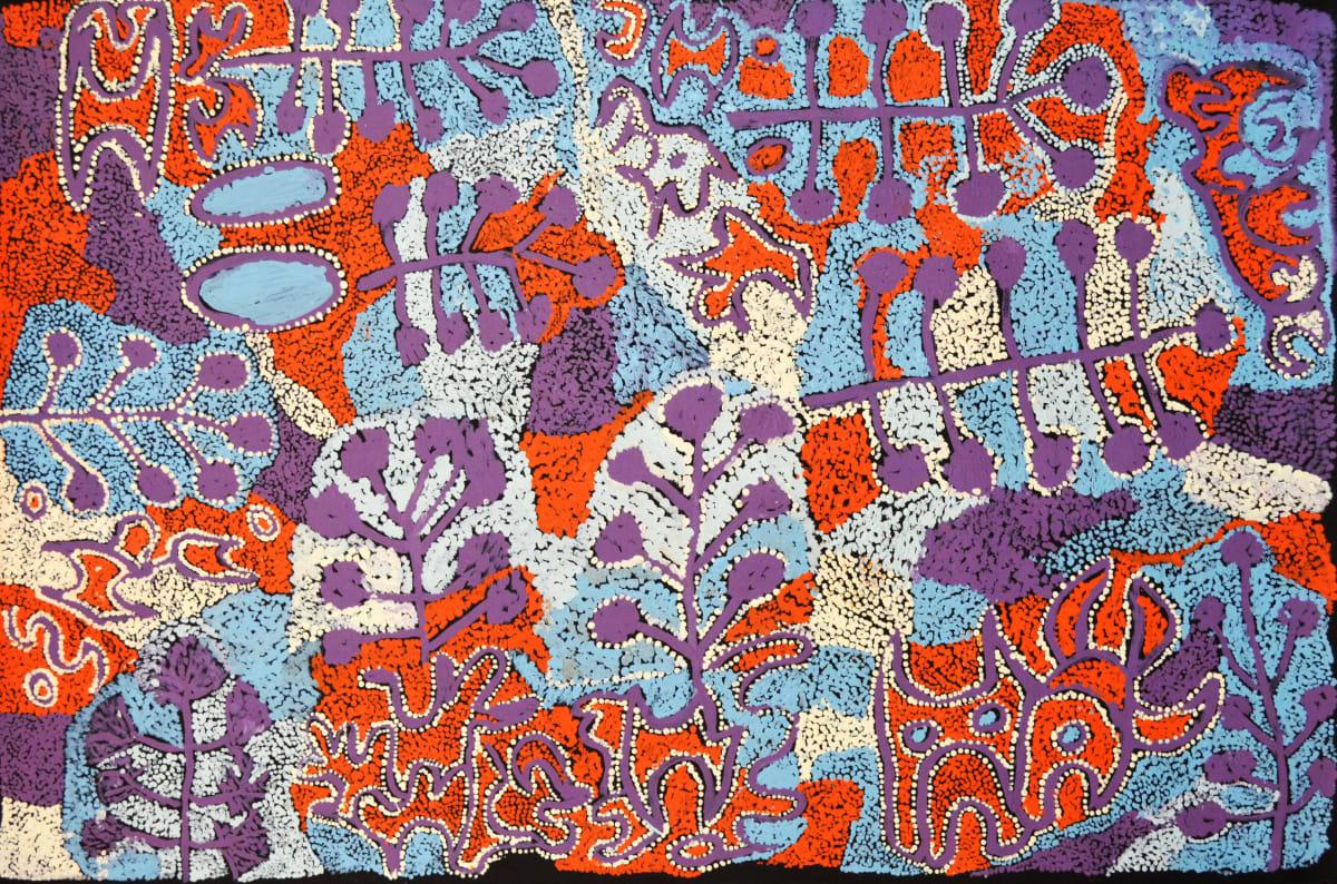 Kathleen Tjapalyi Tjulpuntjulpunpa- wildflowers acrylic on linen 120 x 80 cm