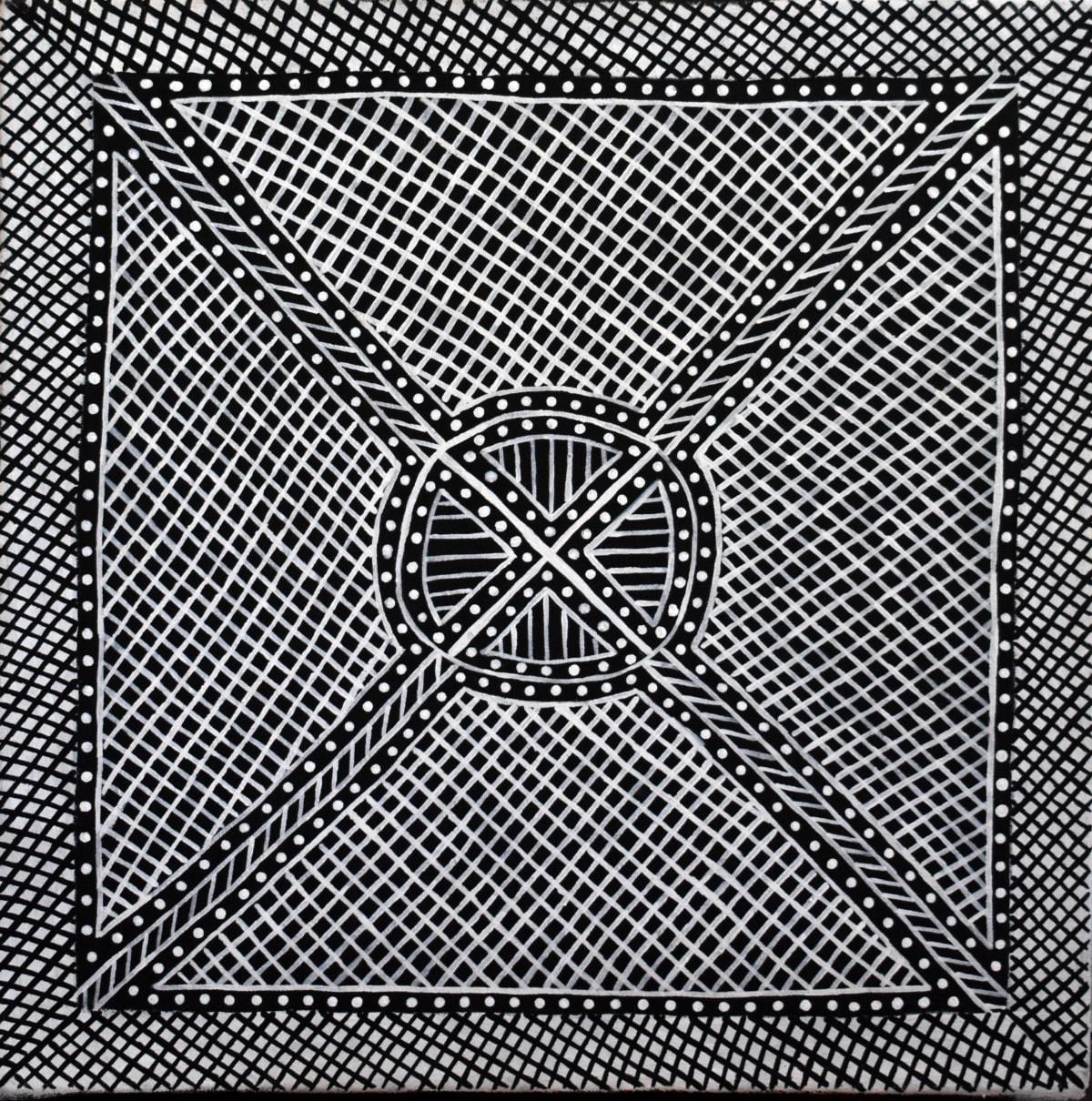 Maureen Brooks Jilamara natural ochres on canvas 45 x 45 cm