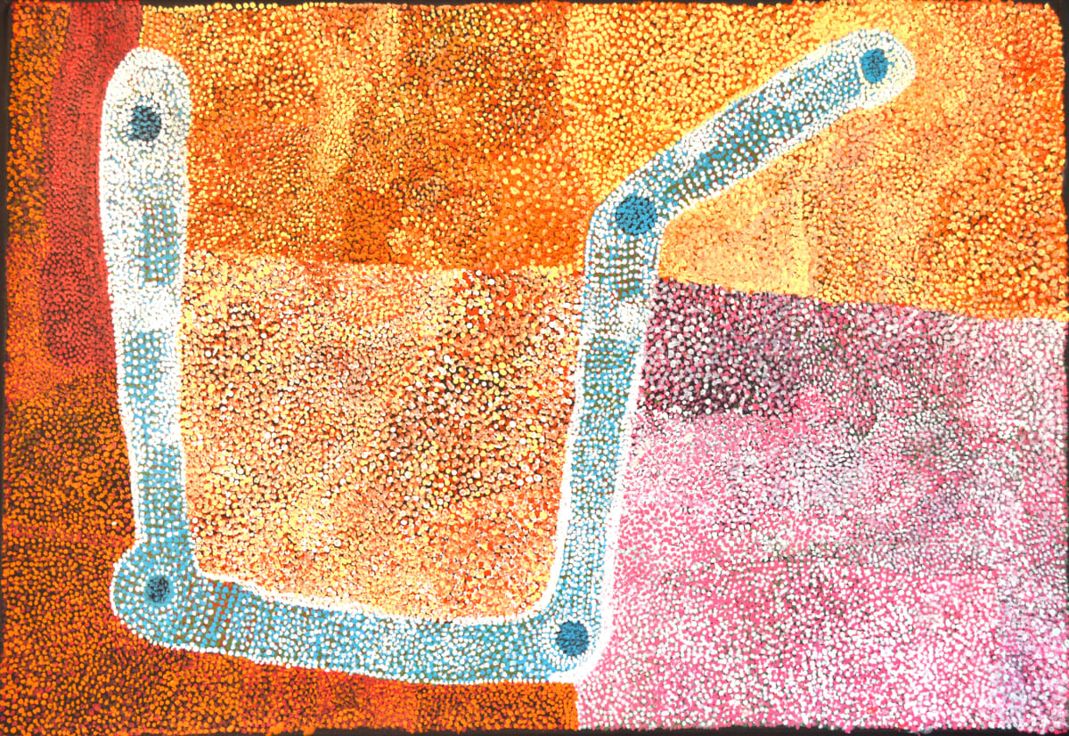 Gordon Ingkatji Wanampi mankur mankurpa kutjara kutjara acrylic on canvas 100 x 150 cm