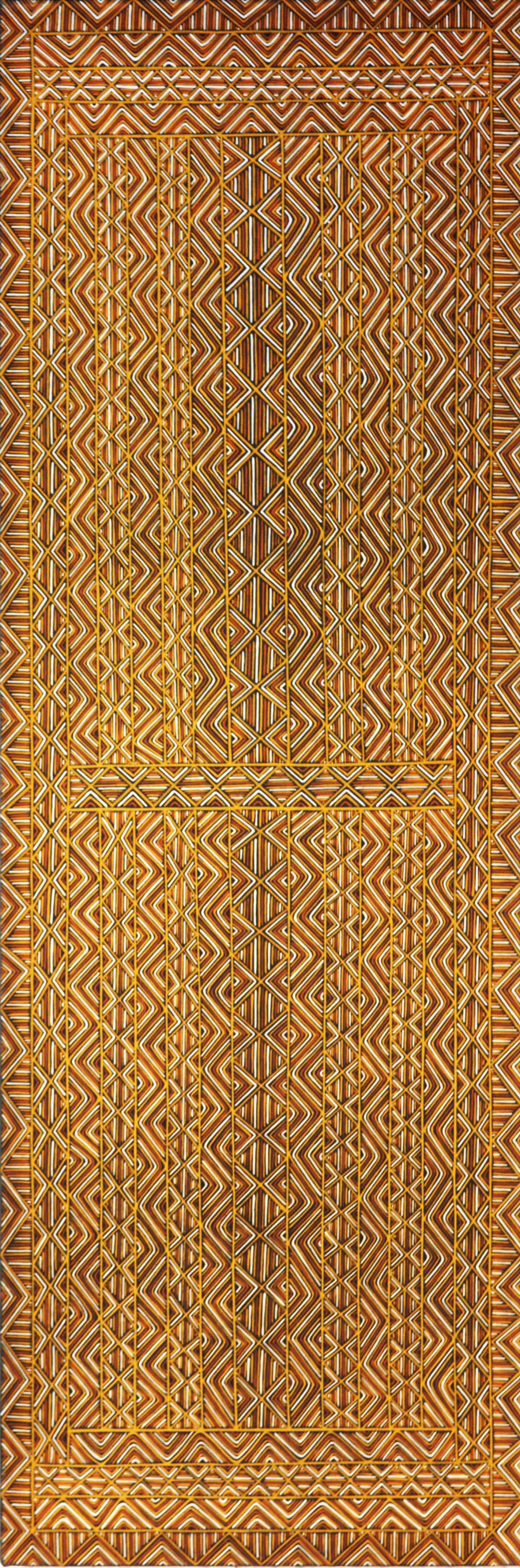 Nicholas Mario Jilamara natural ochres on canvas 180 x 60 cm