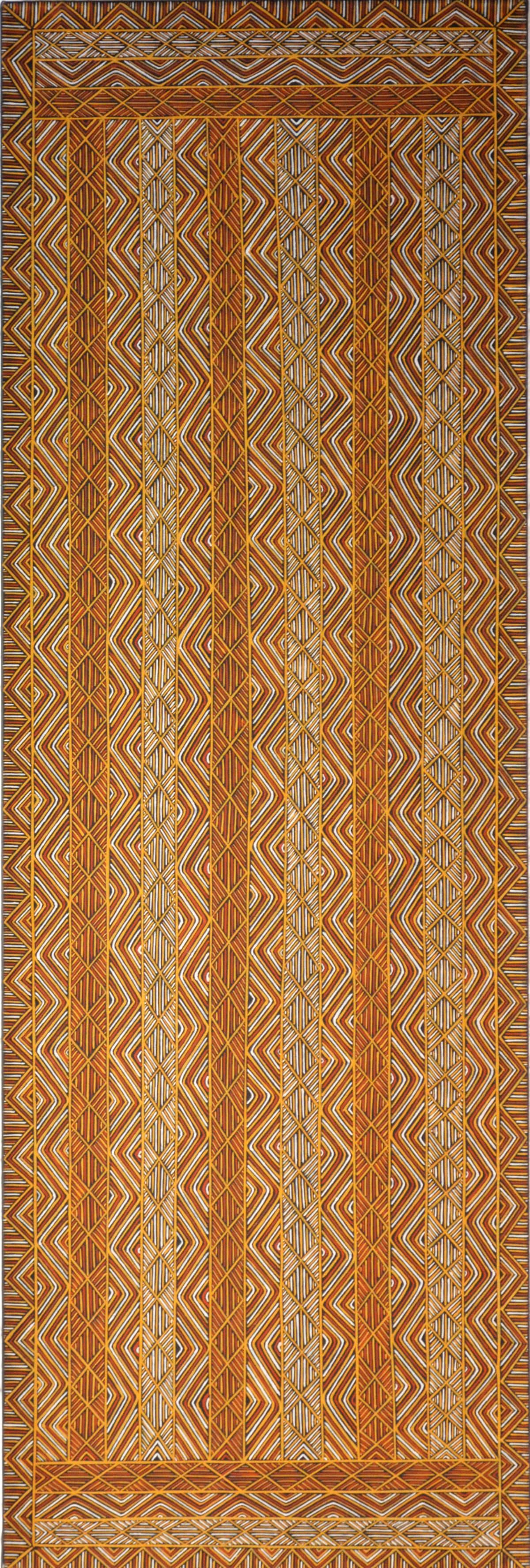 Nicholas Mario Jilamara natural ochres on linen 180 x 60 cm