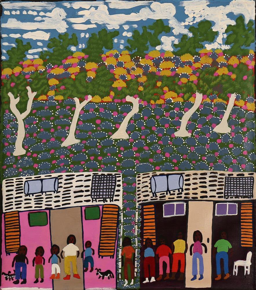 Doris Thomas Ritjingka (Alice Wells) acrylic on linen 53.9 x 61.5 cm