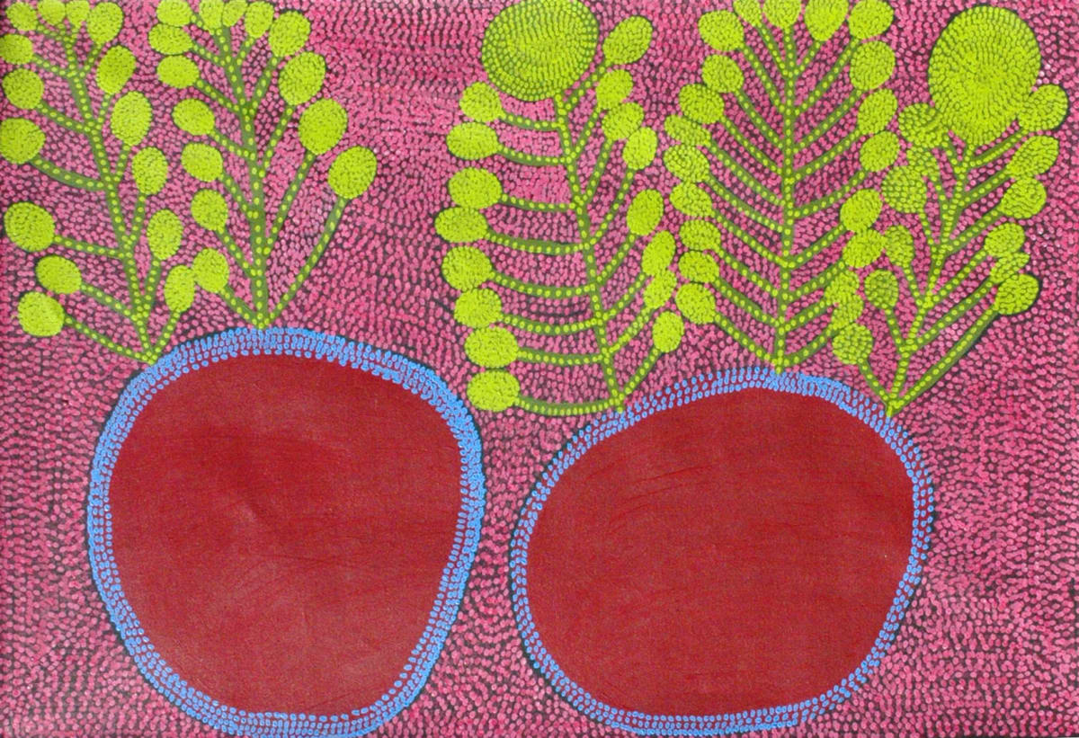 Kunmanara Williamson Puli murpu - Mountain Range acrylic on linen 152.5 x 101 cm