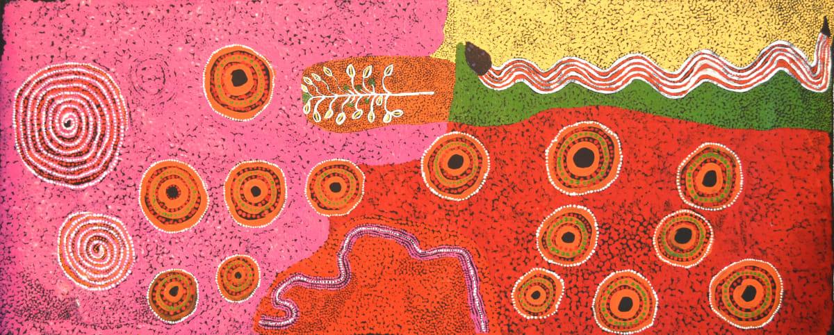 Ginger Wikilyiri Tali Tjukurpa acrylic on canvas 101 x 40 cm