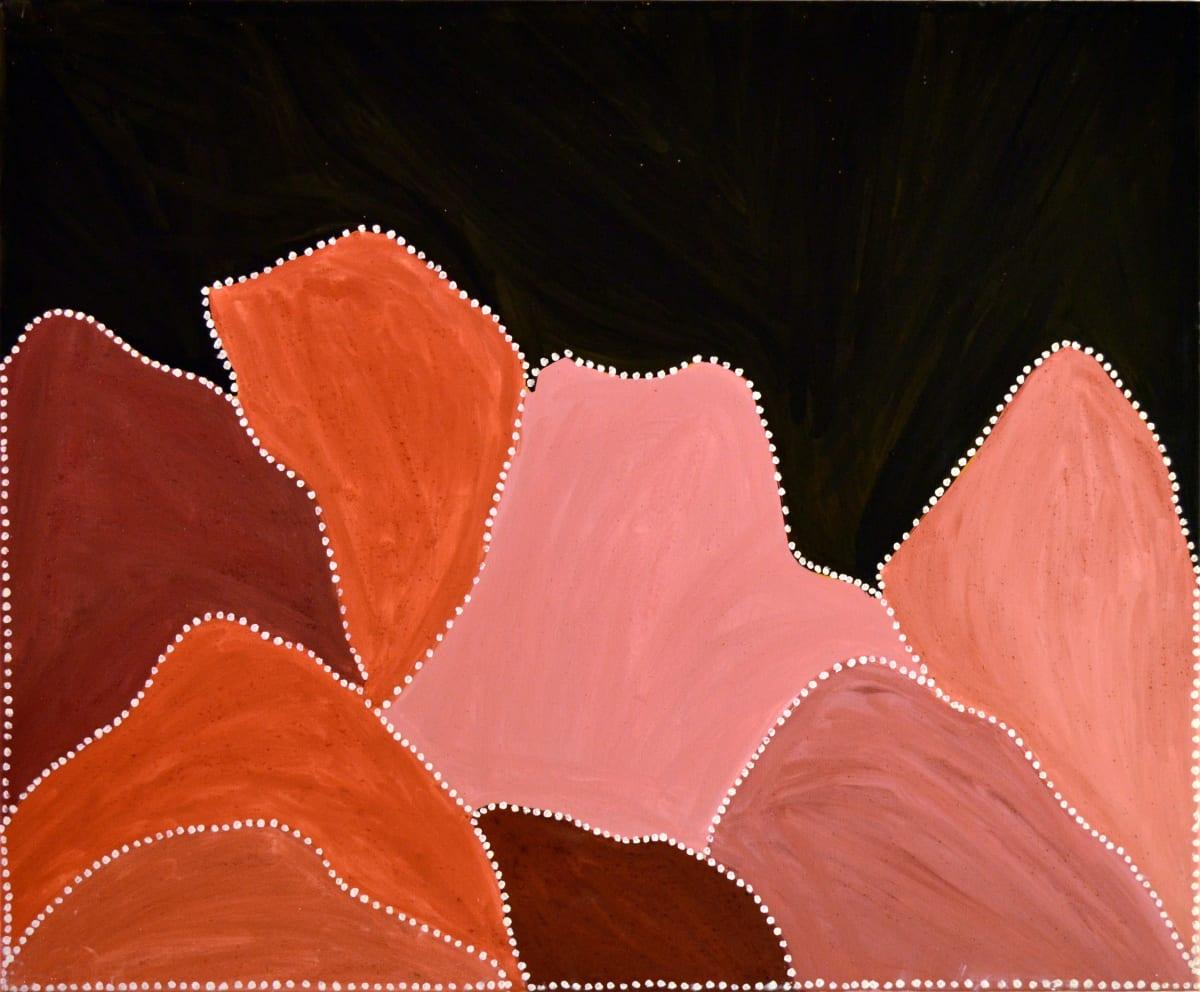 Gordon Barney Grand Creek natural ochre and pigments on canvas 120 x 100 cm
