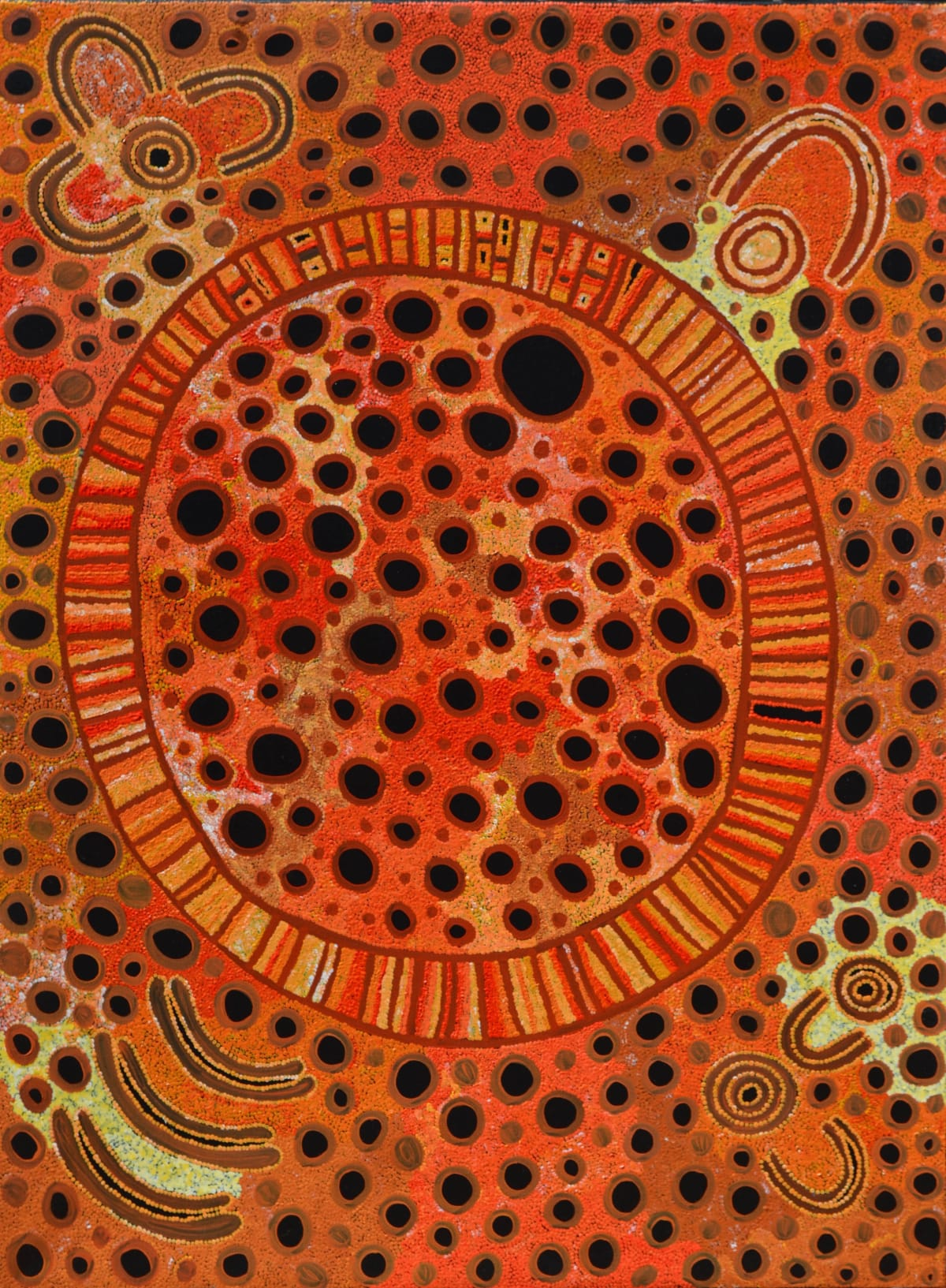 Alison Anderson The Kalinpinypa circle: My Design acrylic on linen 122 x 92 cm