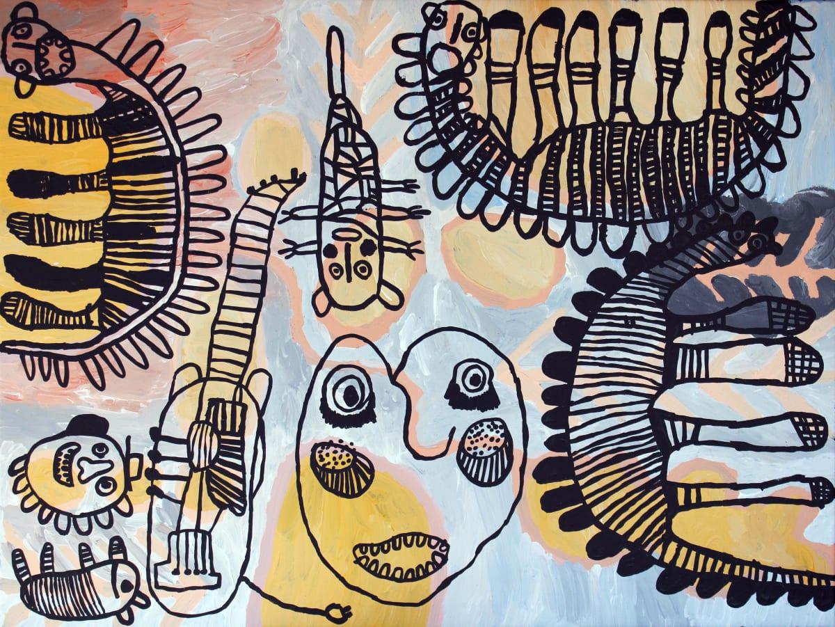 Tiger Yaltangki Mulpa Wiru acrylic on canvas 76 x 101 cm