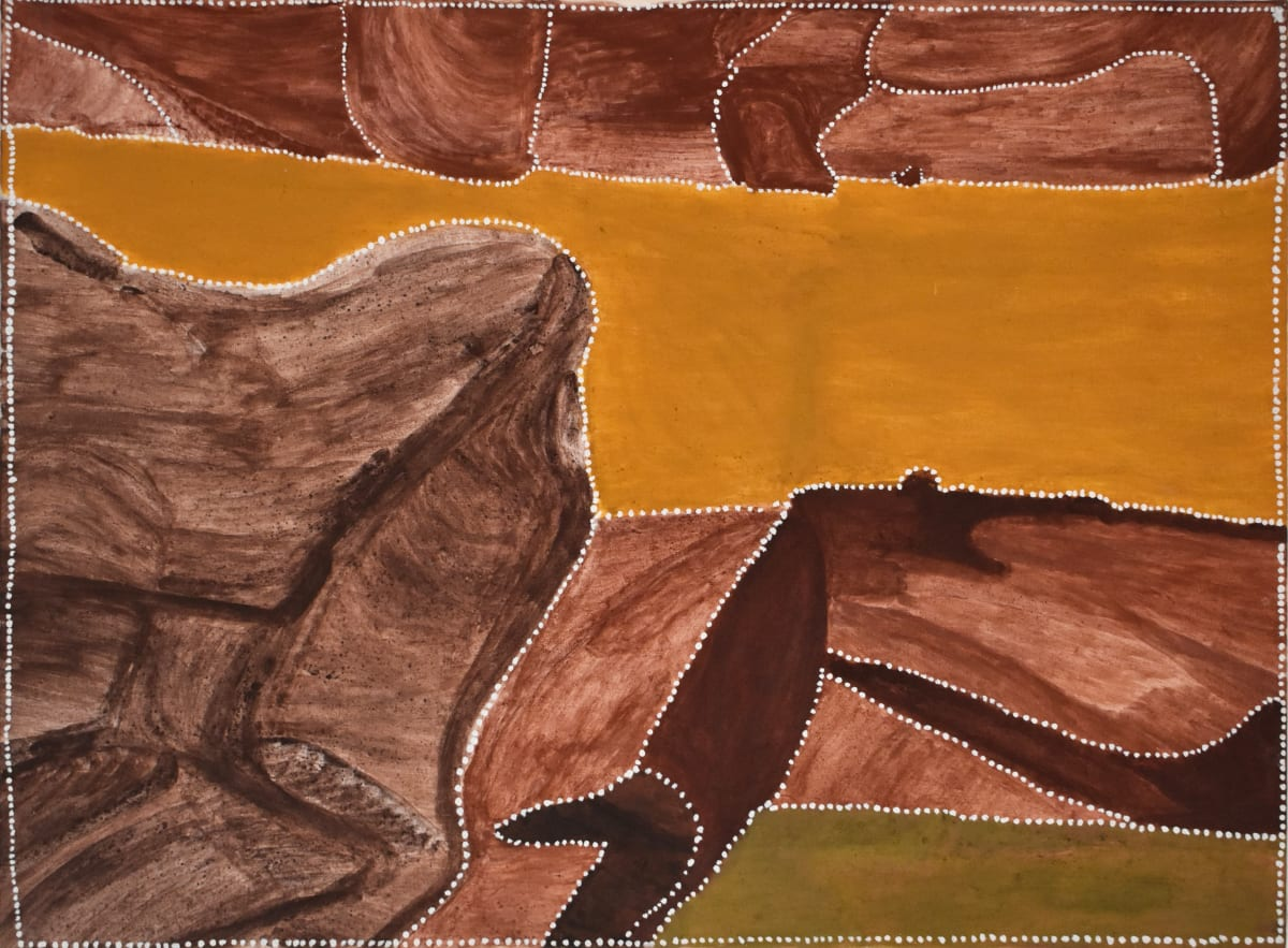 Churchill Cann Yiliyarri, 2013 Natural ochre & pigment on canvas 120 x 90 cm
