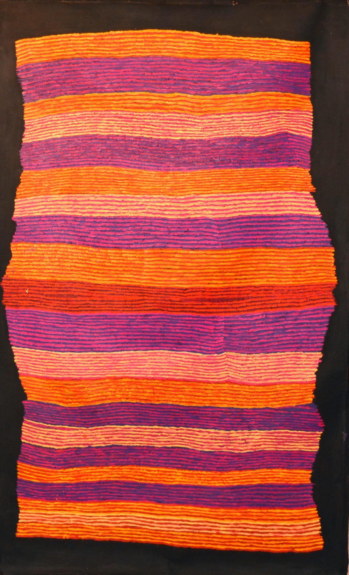 Ray Ken Tali - Sand Dune acrylic on linen 122 x 198 cm