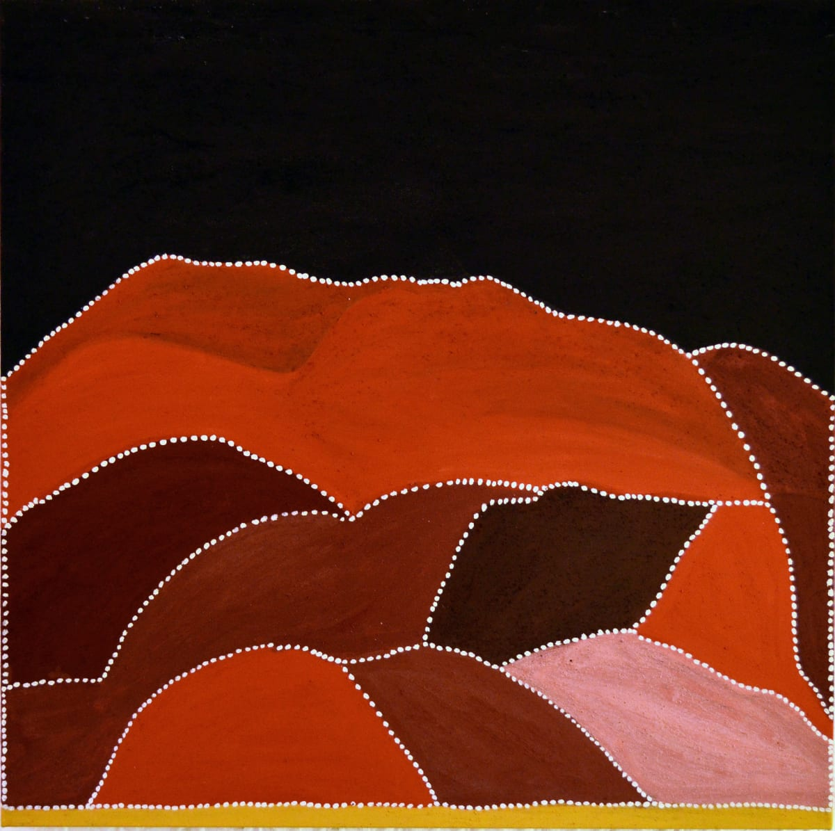 Gordon Barney Birnoo Country, Alice Downs Station natural ochre and pigments on canvas 120 x 120 cm