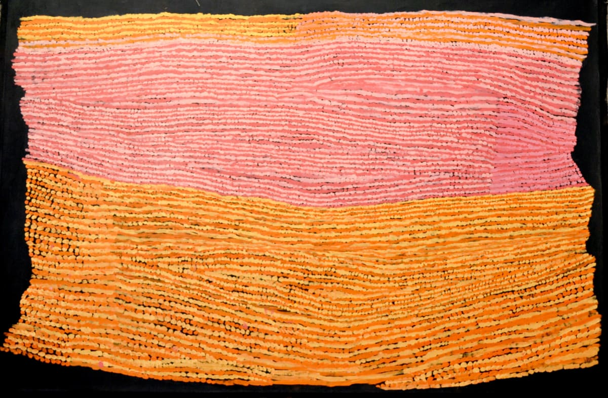 Ray Ken Tali - Sand dune acrylic on linen 152.5 x 101.5 cm