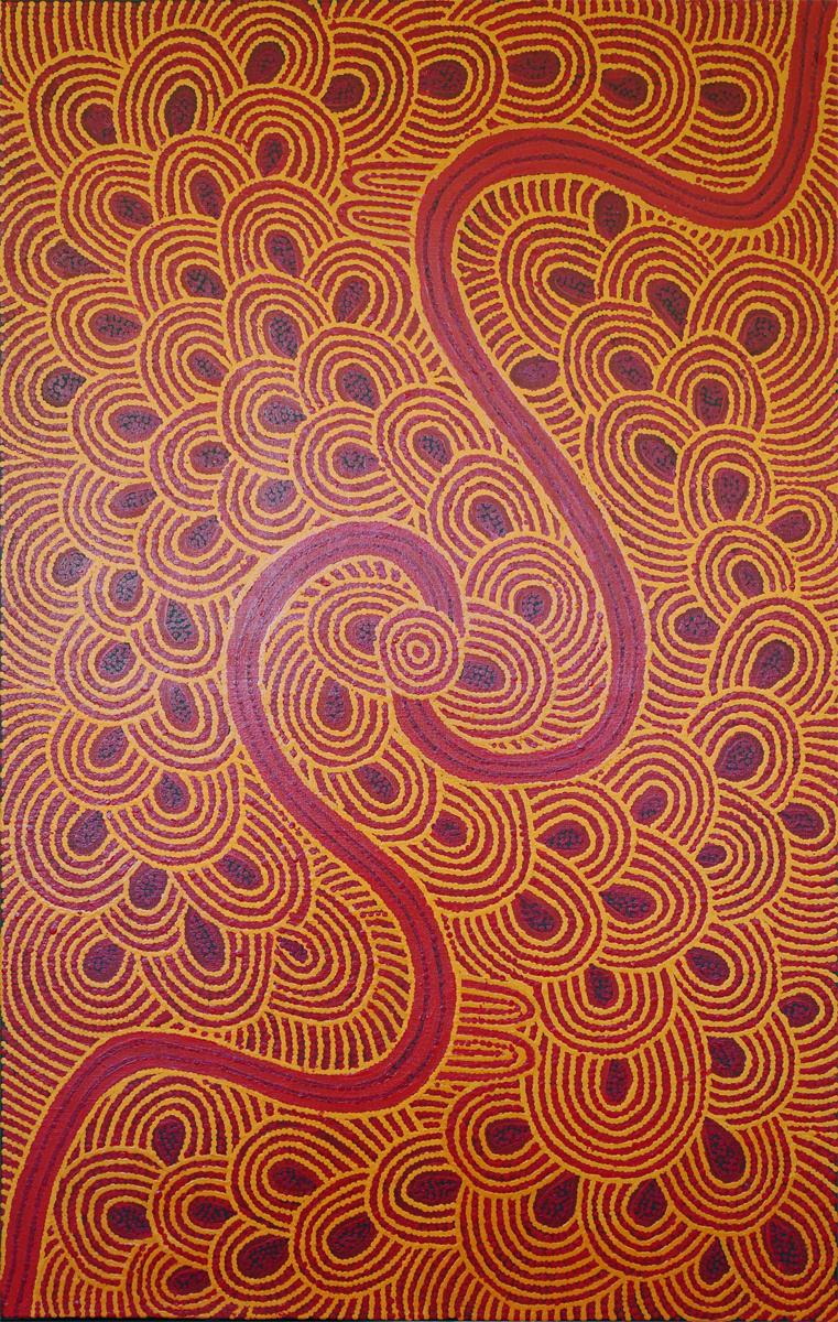 Mary Dixon Nungarrayi Women's Ceremony acrylic on linen 75.5 x 118.5 cm