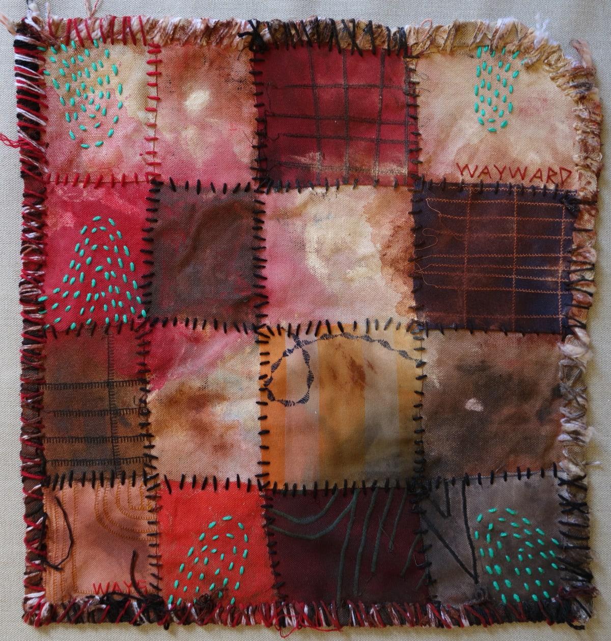 Stephen Eastaugh MUDMAPS 8 (Wayward ways) Broome acrylic, thread, linen 45 x 45 cm
