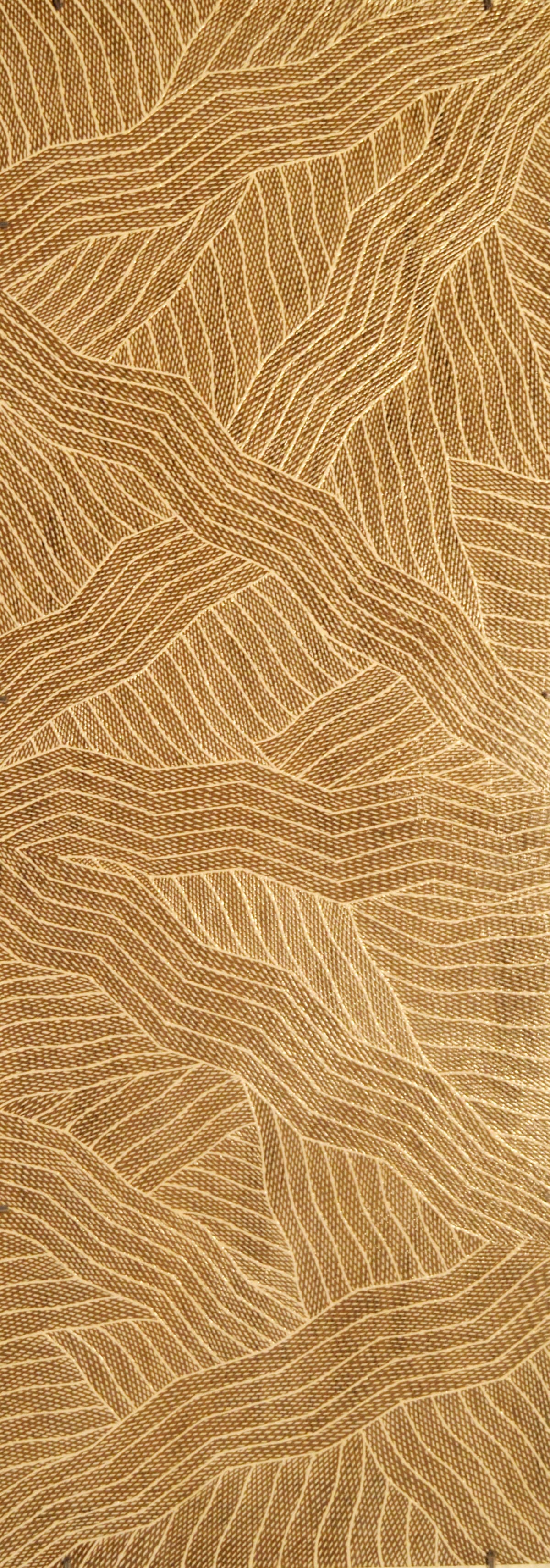 Manini Gumana Garraparra natural ochre and pigments on board 121 x 43 cm
