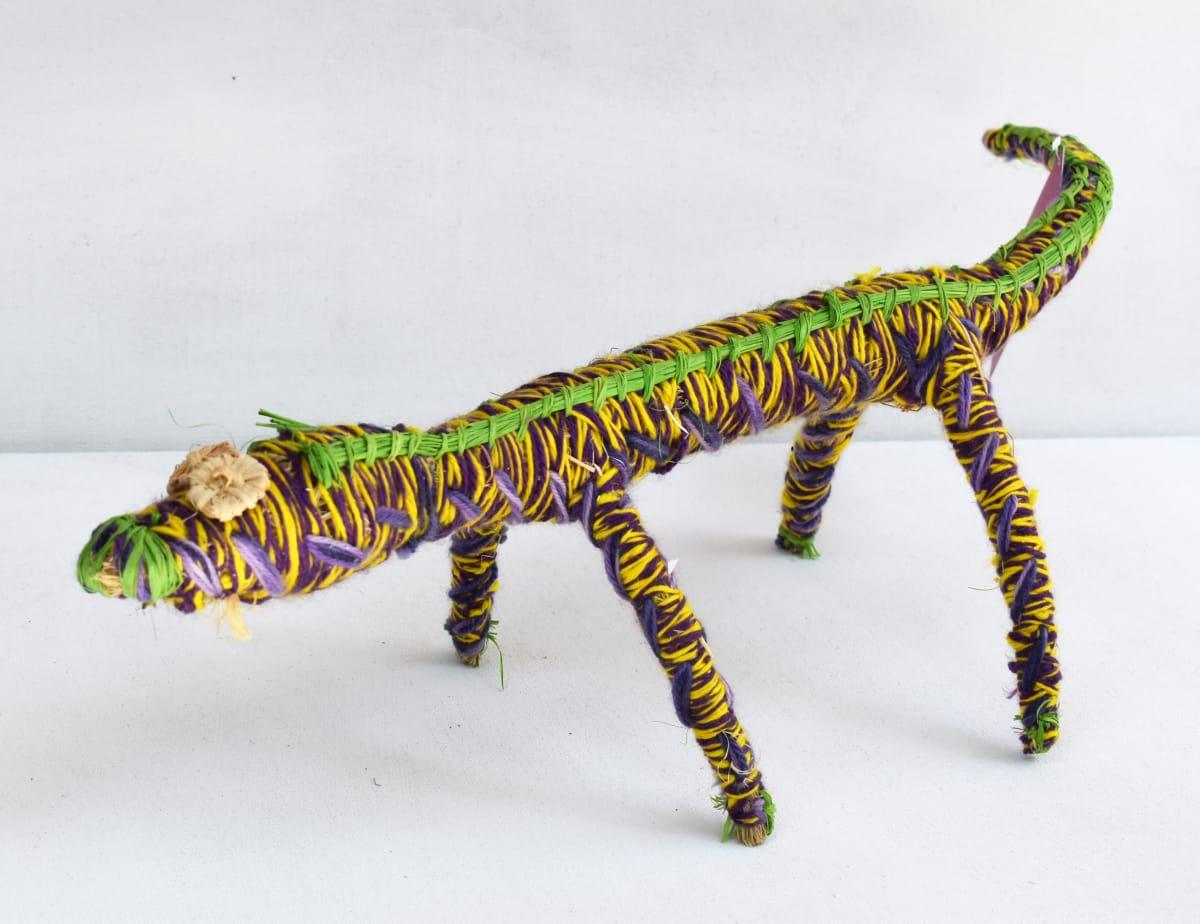 Nancy Nanana Jackson Tinka tjanpi, raffia and yarn 66 x 22 x 16 cm