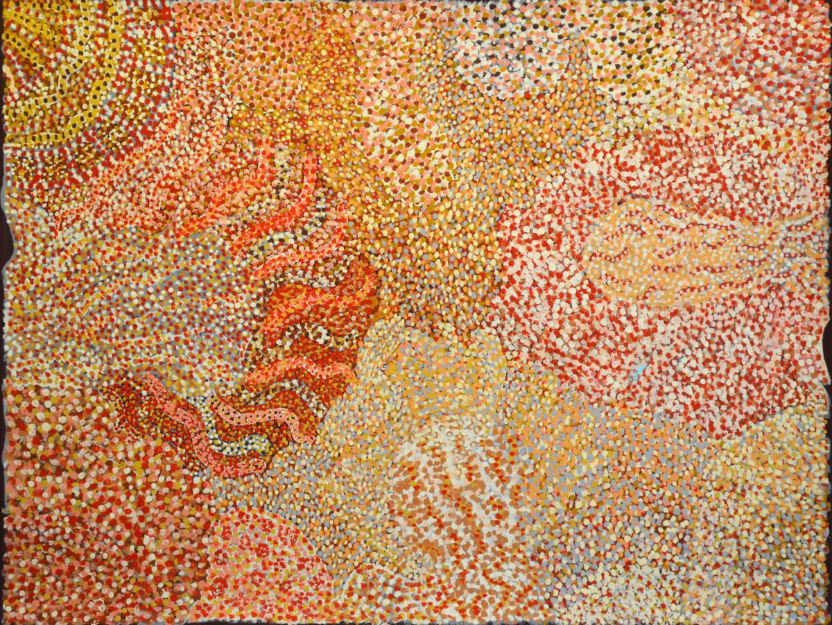 Nellie Coulthard Rukuringanyi Ngura acrylic on canvas 91 x 121 cm