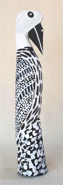 Gerry Mungatopi Tokwampini, the bird. ironwood with natural ochres 49 cm