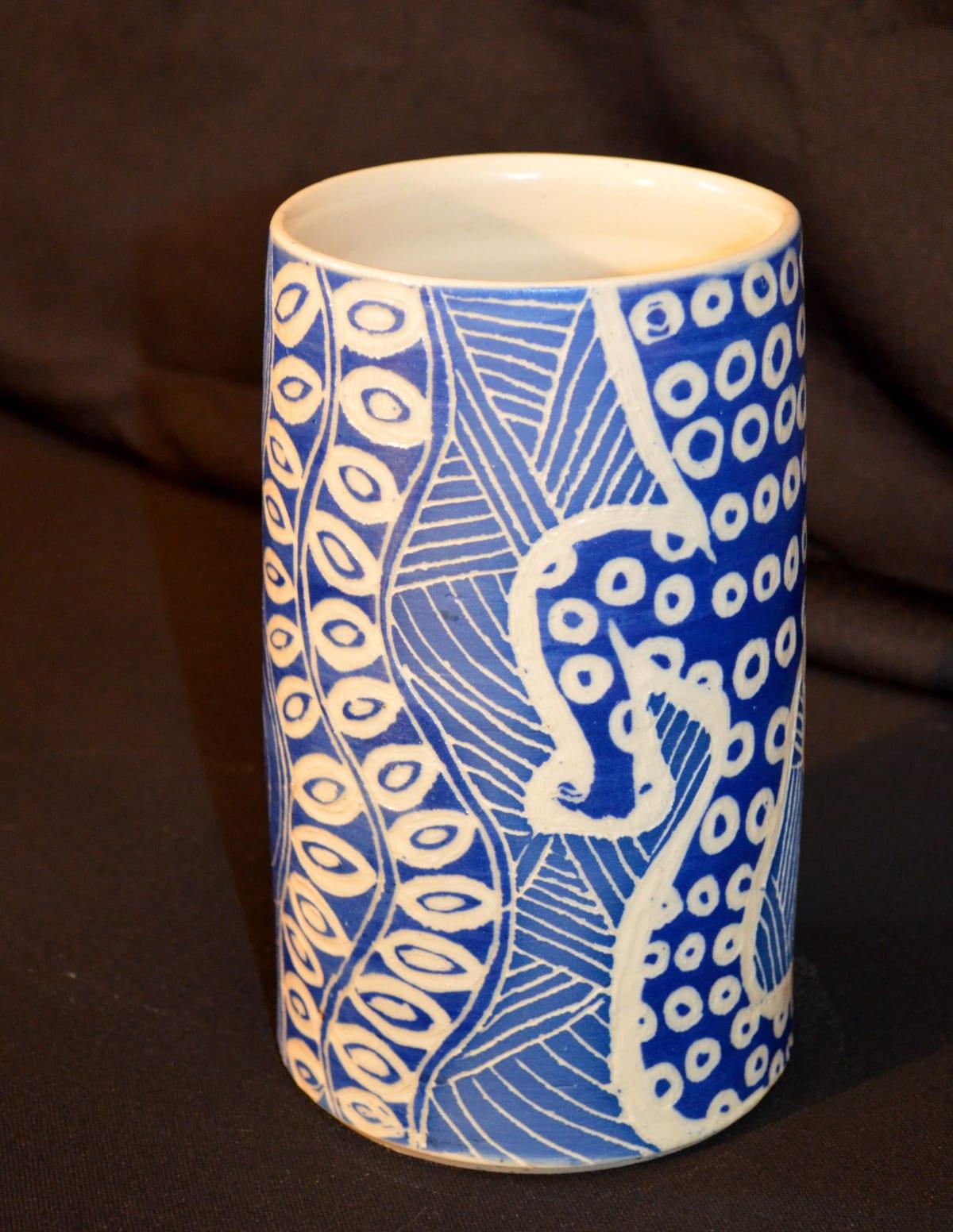 Derek Jungarrayi Thompson Wati Ngintaka Stoneware 18 x 10.5 x 10.5 cm