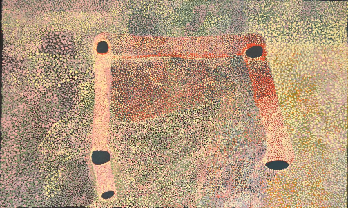 Gordon Ingkatji Wanampi mankur mankurpa kutjara kutjara acrylic on linen 99 x 150 cm